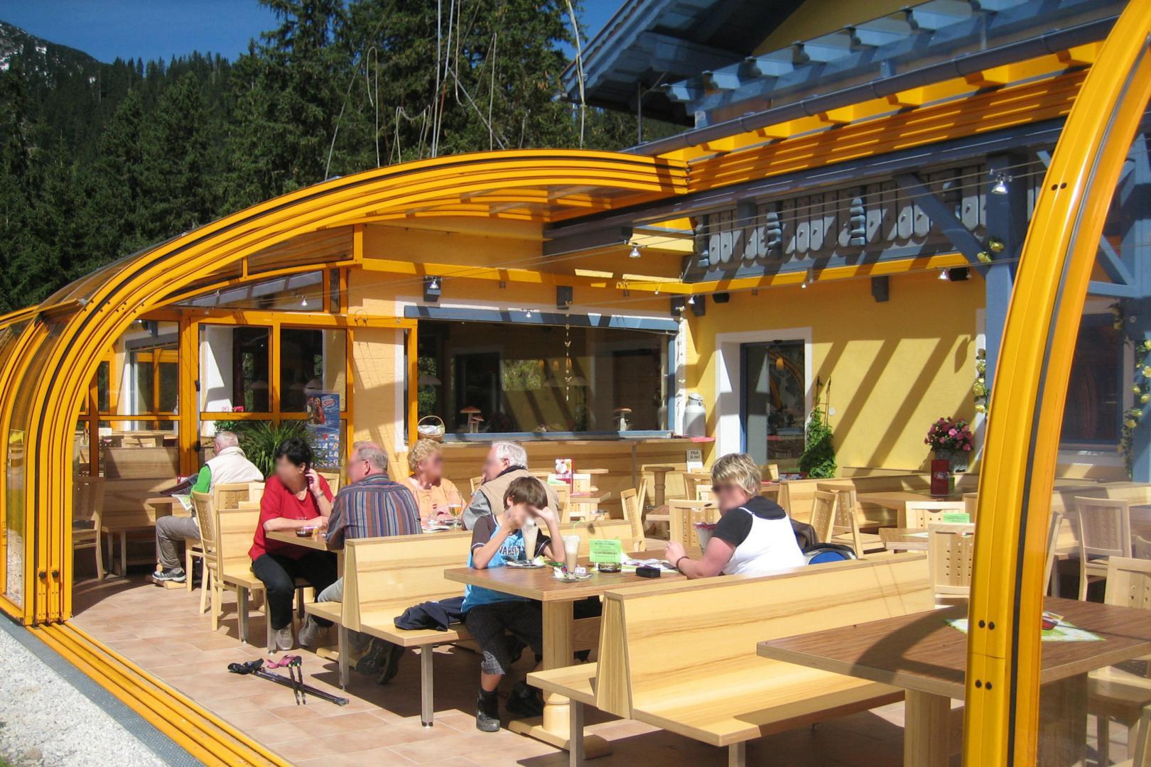 abri de terrasse mobile pour bar ou restaurant i vranda coulissante pour espace professionnel i modle