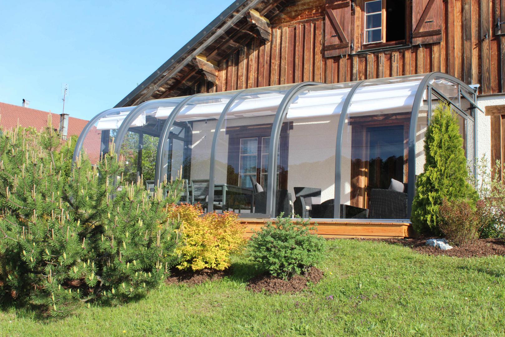 Abris de terrasse 3 saisons de type solar v randa mobile - Veranda arrondie ...